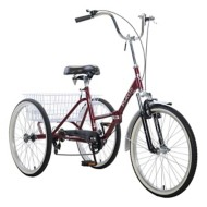 "Adult Mantis Tri-Rad Folding 24"" 6-Speed Tricycle"