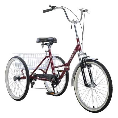 "Adult Mantis Tri-Rad Folding 24"" 6-Speed Tricycle"
