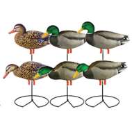 Greenhead Gear Pro-Grade Full Body Harvester Mallard Decoys with Flocked Drake Heads 6-Pack