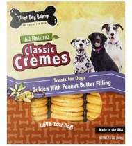 Three Dog Bakery Classic Cremes Golden with Peanut Butter Filling