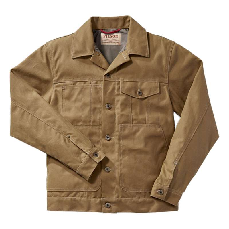 Men's Filson Tin Cloth Short Lined Cruiser Jacket