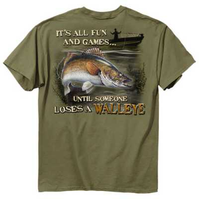 Men's Buck Wear Walleye Fun T-Shirt