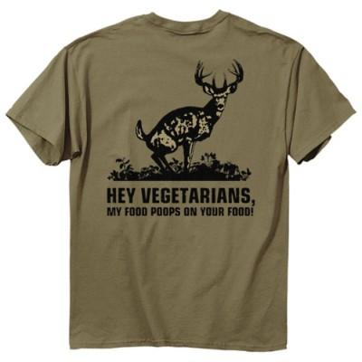 Men's Buck Wear Food Poops T-Shirt