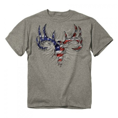 Men's Buck Wear USA Rip Skull T-Shirt
