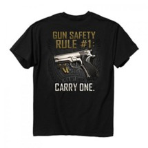 Men's Buck Wear Gun Safty Rule T-Shirt