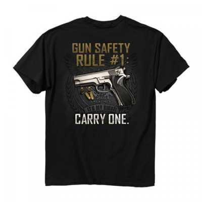 Men's Buck Wear Gun Safty Rule T-Shirt