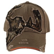 Men's Buck Wear Skull Cut Away Cap
