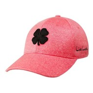 Men's Black Clover Lucky Heather Rojo Fitted Hat