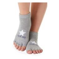 Women's Sticky Be Socks Half Toe Be You Grip Socks