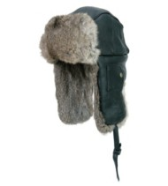 Mad Bomber Leather Hat