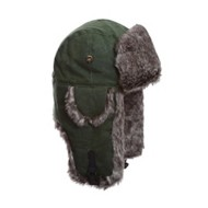 Mad Bomber Waxed Cotton Faux Fur Bomber Hat