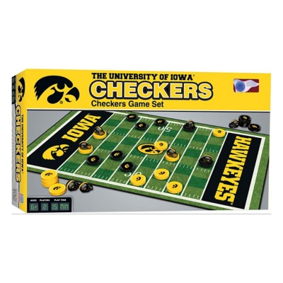 Masterpieces Puzzle Co. Iowa Hawkeyes Checkers Game
