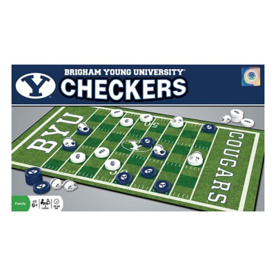 Masterpieces Puzzle Co. BYU Cougars Checkers Game