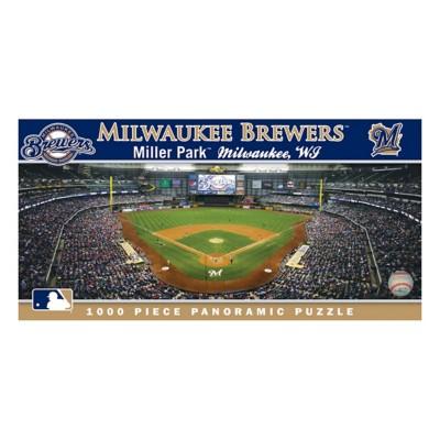 Masterpieces Puzzle Co. Milwaukee Brewers Panoramic 1000 Piece Stadium Puzzle