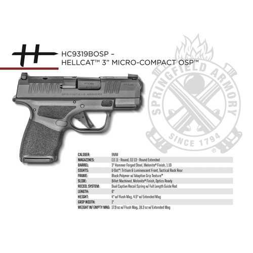 "Springfield Armory Hellcat 3"" Micro-Compact OSP 9mm"