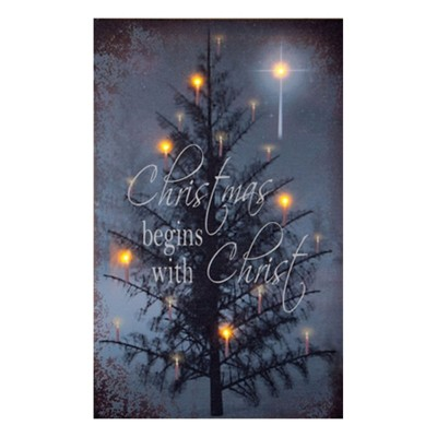 The C in Christmas Lighted Canvas