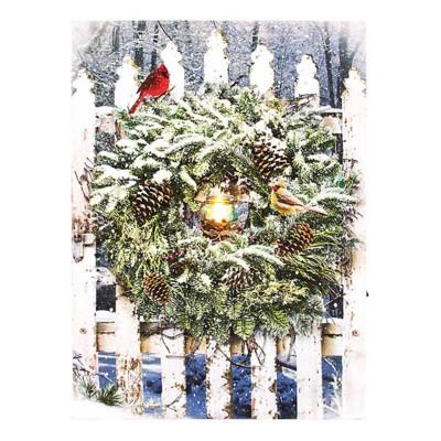 Lighted Large Winter Garden Gate