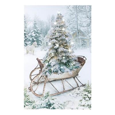 Lighted Winter Sleigh Canvas