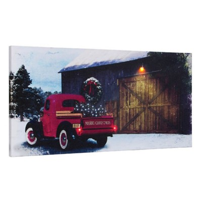 Lighted Picking Up The Tree Canvas