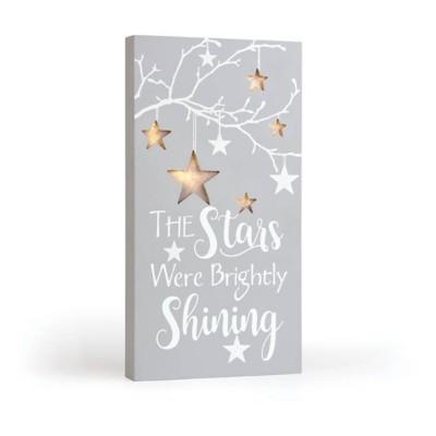 Lighted Shining Stars Box Sign