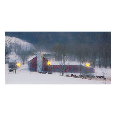 Lighted Millers Farm Canvas
