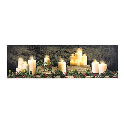 Lighted Large Christmas Mantel of Candles