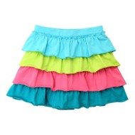 Toddler Girls' Globaltex 4 Tier Colorful Ruffle Skirt