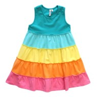Toddler Girls' Globaltex 5 Tier Sorbet Racer Back Dress