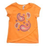 Toddler Girls' Globaltex Paisley Print Tulip Hem T-Shirt