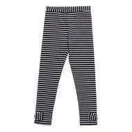 Toddler Girls' Globaltex Black And White Stripe Legging