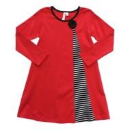 Toddler Girls' Globaltex Red Align Dress