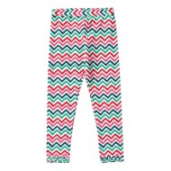 Toddler Girls' Globaltex Zig Zag Multi Color Legging