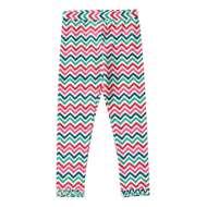 Toddler Girls' Globaltex Zig Zag Multi Color Legging