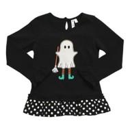 Toddler Girls' Globaltex Ghost Long Sleeve Tunic