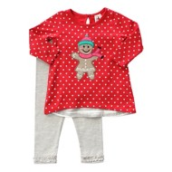 Infant Girls' Globaltex Ginger Bread Tunic With Legging Set