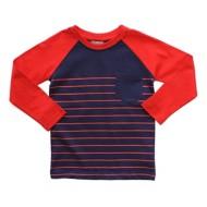 Toddler Boys' Globaltex Striped Raglan Long Sleeve Shirt