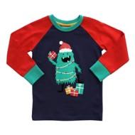 Toddler Boys' Globaltex Christmas Monster Christmas Tree Long Sleeve Shirt