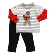 Infant Boys' Globaltex Ginger Bread Shirt With Pant Set