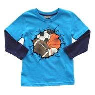 Toddler Boys' Globaltex Multi Sport Long Sleeve Shirt