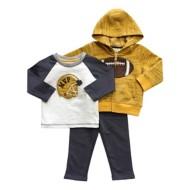 Infant Boys' Globaltex 3 Piece Football Hoodie Set