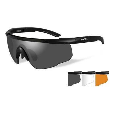 Wiley X Saber Advanced 3 Lens Shooting Glasses