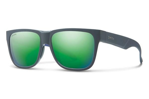 Matte Smoke Blue/ Sun Green Mirror