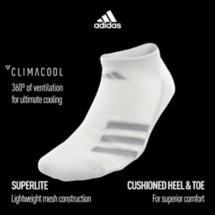 Men's adidas ClimaCool Superlite Stripe 3-Pack Socks