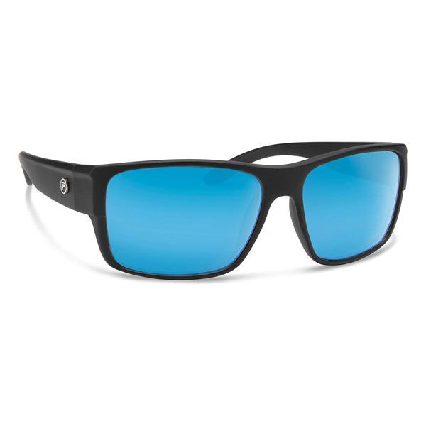 Matte Black / Blue Mirror