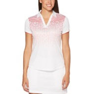 Women's PGA TOUR Short Sleeve Ombre Print Polo