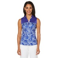 Women's PGA TOUR Sleeveless Engineered Floral Striped Top