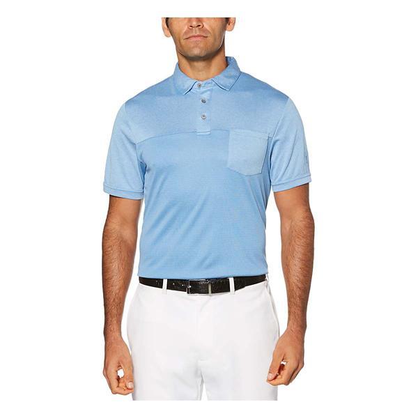 PGA TOUR Mens Short Sleeve Tour Soft Heather Pocket Polo Shirt