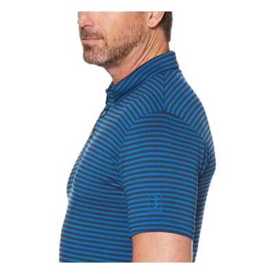 Men's PGA TOUR Yarn Dyed Feeder Stripe Golf Polo