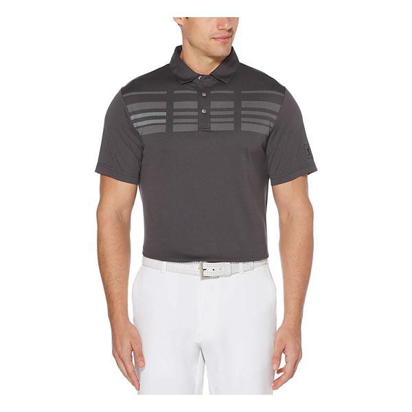 75bada92 ... PGA TOUR Men's Broken Stripe Oxford Short Sleeve Polo Golf Shirt Tap to  Zoom; Caviar