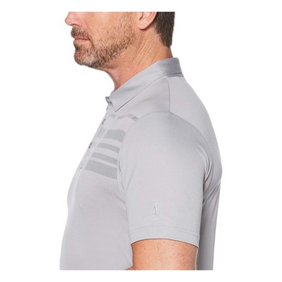 63129055 Tap to Zoom; PGA TOUR Men's Broken Stripe Oxford Short Sleeve Polo Golf  Shirt